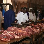 Vendeur de viande ( Crédit photo : MaliActu)
