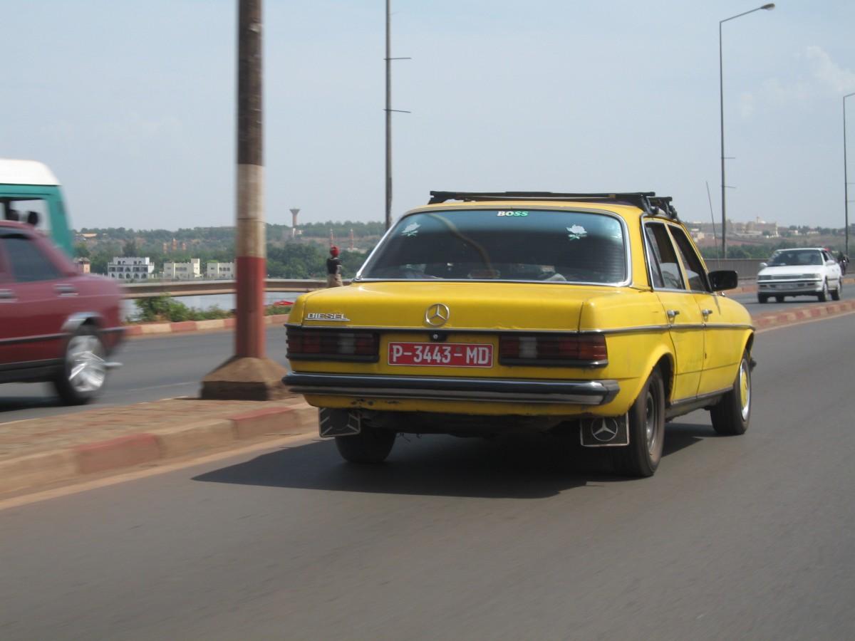 Un taxi à Bamako